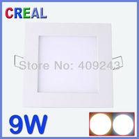 "850lm  9W led ultra thin panel 5"" downlights lamp smd 5730 white ceiling  cebinite spot light panels"