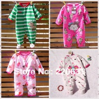 retail new 2013 autumn winter baby clothing set,newborn baby,toddler boy girl cartoon romper,bodysuit,fleece overall,jumpsuit