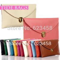 New Fashionable European Style Women Envelop Clutch Mortise Lock Women Mini Cross Body Bags Candy Color Vintage Handbags AD0337