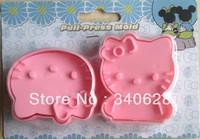 Factory Wholesale Pink  cat shape mold sugar Arts set Fondant Cake tools 10sets/lot