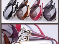 Free Shipping 2013 New Arrive Plastic Frame Black Polarized Sunglasses For Women Brand Design  ZP211