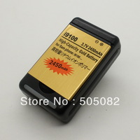 2450mah new extended replacement gold high capacity BATTERY+Dock charger for SAMSUNG i9100 GALAXY SII S2+free shipping