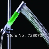 Free Shipping 1pcs Romantic Super Bright Automatic 7 Colors LED Light Shower Head Home Bathroom Water Glow-A13