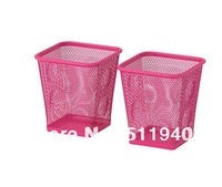 2 pieces steel pen holder  pen cup