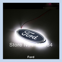 3colors Car LED Decal Logo Rear Light Badge Emblem Sticker Lamp For Focus 14.5x5.8CM