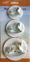 Factory Wholesale10sets/lot  Wooden Horse Shape Mold Sugar Arts Set Fondant Cake Tools/cookie Cutters