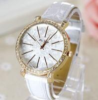 2015 New Fashion 8 Colors Ladies Leather Crystal Diamond Rhinestone Watches Women Dress Quartz Wristwatch Dropshipping