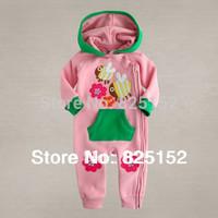 baby Bodysuit,Baby Girl Boy Spring Autumn hooded cute Honeybee Grow Long Sleeve Bodysuit Jumpsuit Outwear Pink Green clothes
