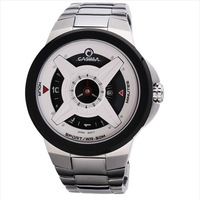 Free Shipping CASIMA 8208 F1 racing wheel styling men's watches personalized time display 100M depth waterproof watches