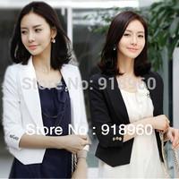 new sale three quarter sleeve Leisure suit Women's blazers/summer short coat tuxedo women's Concise elegant slim OL suits/WTE