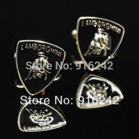 Free Shipping High Quality Brass Argola Car Emblems Men Fashion Luxury Gold Cufflinks