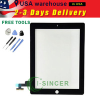 New Touch Screen Glass Digitizer Replacement For Apple iPad 2 2G Black +Tools