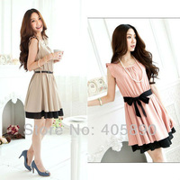 New 2014 Women's Clothing Bandage Lotus Sleeveless Vest Levels Dress