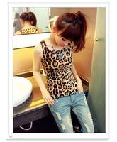 Women's Slim Sexy Leopard Summer Sleeveless Vest Tank TOP Drop shipping 15250