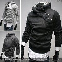 Free Shipping 2014 NEW Hot High Collar Men's Jackets ,Men's Sweatshirt,Dust Coat ,Hoodies Clothes,cotton wholesale M-3XL