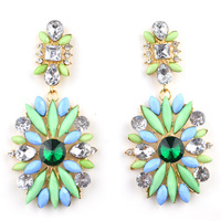 2013 New Hot Sell Vintage Drop Earrings.Fashion Designer Hit Geometry Rhinestone Acrylic Earring,Accessories for Woman