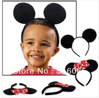 Lovely Minnie ears Hair accessories , girl Hard hair bands for Mickey mouse birthday party,mickey mouse headband for Photography