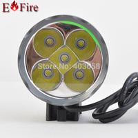 6000 Lumen 5 x CREE XM-L T6 LED Light  Bicycle LED Headlamp HeadLight  Waterproof Aluminum alloy