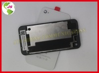 10pcs/lot Spare Part Black and Wihte Glass Battery Back Housing Cover for iPhone 4 4G with Protective Film as a Gift
