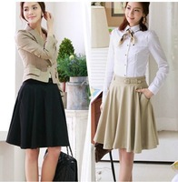 2013 summer new Women Korean ladies fashion high waist big skirt in summer  , free shipping !!
