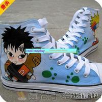Diy colored drawing canvas  naruto Gaara fashion lovers  hand-painted  casual flat  skateboarding shoes