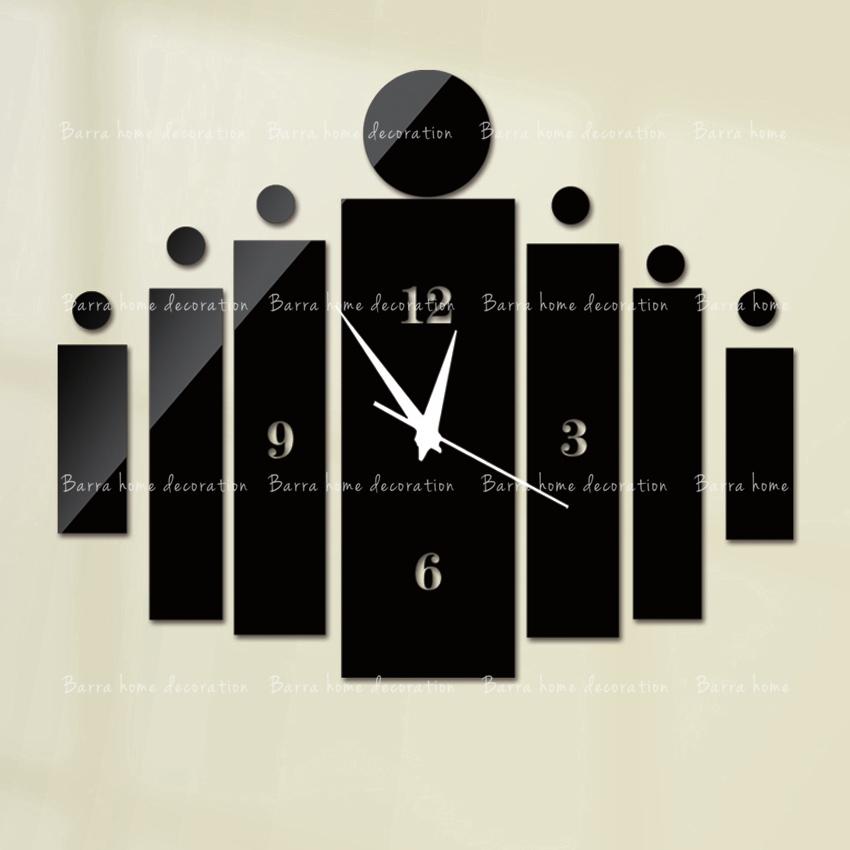 New arrival fshion wall clock modern design luxury mirror wall clock,3d crystal mirror wall watches michael wall clocks black(China (Mainland))