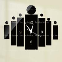 New arrival fshion wall clock modern design luxury mirror wall clock,3d crystal mirror wall watches michael wall clocks black