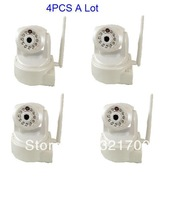 4 pcs a lot CN-WIP604MW  Megapixels(720P) Pan/tilt H.264 wireless IP Camera Support 32GB SD Card  +P2P Plug&play function