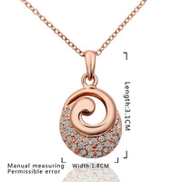 High Quality!18K Gold And Platinum Plated Elegant Noble Insets Necklaces & Pendants Nickel Free Crystal Jewelry N610