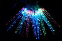 Hot ! 3pcs 5M Long 20 LED bulb Icicle Light ,Colorful Color changing Pendant lights , End plug, Christmas Decoration ,Mixed-lot