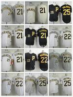 Mix order Pittsburgh Pirates jersey #8 Willie Stargell /cletement/maccutchen jersey, men's throwback Baseball Jerseys