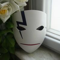 White Fancy Japanese Devil mask cosplay Halloween maskquerade ball carnival costume full face mask