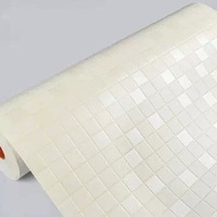 Free Shipping PVC self-adhesive waterproof Mosaic wall paper/White home decor wall sticker for kitchen/bathroom HDC-117