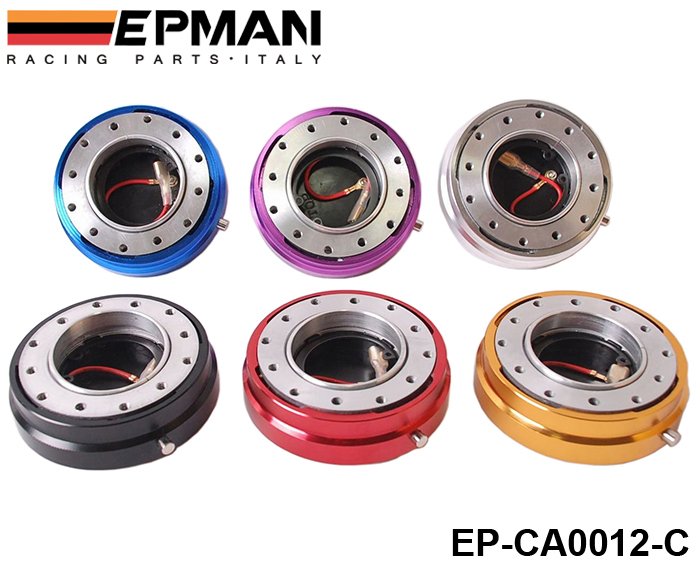 EPMAN Hot Selliing Thin Version Steering Wheel Quick Release (Default color is Black) EP-CA0012-C-Black(China (Mainland))