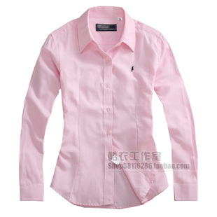 2013 women's polo shirts, long sleeve cotton, fashion style shirt women slim shirt formal multiple colors(China (Mainland))