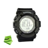 Sunroad Multi-function Digital Fishing Barometer Waterproof Wrist Watch Thermometer Altimeter  Pedometer EL backlight 0.25-MDM07