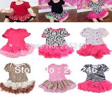 Free shipping Sweet Baby Toddler Ruffles Tutu dress Romper One-Piece Outfit Dress 0-12M Cute LKM106 DropShipping(China (Mainland))