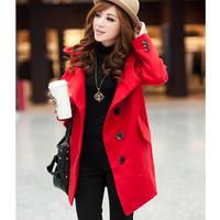 Plus Size XL-5XL 6XL (bust 51 inch) Woman Jacket Vestido 2014 New Fashion Casual Autumn Winter dress Women's Dresses Wool Coat