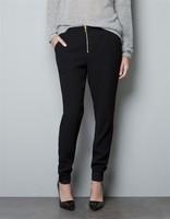 Women Super Casual Zipper Harem Pants Lady Fashion Trousers, TW1053-E02