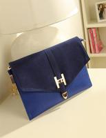 2013 vintage bag envelope bag H lockbutton color block scrub bag fashion women's handbag one day clutch shoulder messenger bag