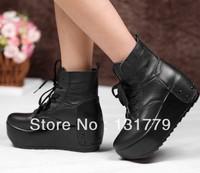 free shipping Platform heels high-heeled shoes fashion platform women's shoes ankle boots flat boots vintage brand flatforms