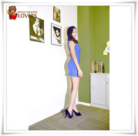 New year hot selling  nightclub sexy low cut gauze perspective hollow Slim package good quality Over hip dress