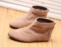 2013 Genuine Leather Boots Flat Heel Women's Shoes Nubuck Cowhide Boots Flat Boots Size 35-39 US 5-7.5 Drop Shipping