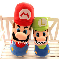 Free Shipping 50CM Mario pillow  Stuffed Plush Toy  comic and movie cute doll for Child Christmas Gift Toys boys & girls friend