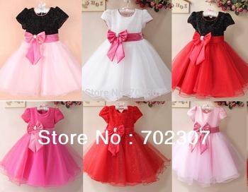 Розничная элегантное платье, ну вечеринку девочка принцесса одежда бесплатная доставка много цветов 5684