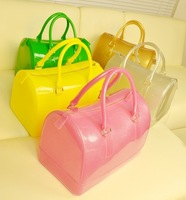 2013 HOT Korean version candy bag pillow bag colored jelly bag handbag Boston colorful pvc pillow bag handbags designers brand