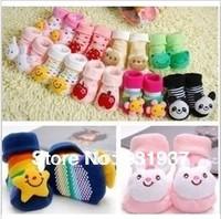 5pairs/lot free shipping,good quality ,cartoon baby cotton socks,newborn cartoon cotton socks,100%cotton 3D cartoon baby socks