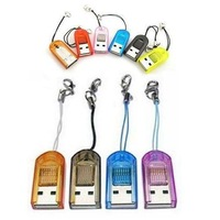 High Speed USB 2.0 TF Card Reader Micro SD TF Card Reader T-Flash TF M2 Memory USB Card Readers Adapter Up To 16GB TF Card 5Pcs