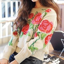 wholesale flower sweater