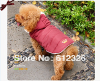 Pet Dog Clothes Warm Winter Jacket Clothes Dog Hooded Coat Cotton Jacket Clothes Free Shipping